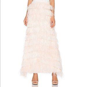 NWT Line & Dot Pink Amelie Ostrich Skirt